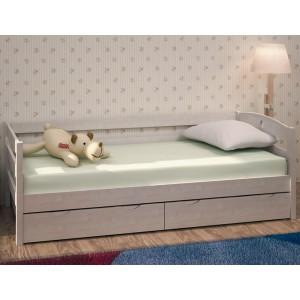 Кровать с ящиками Массив