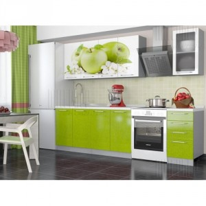 Кухня  Зеленое Яблоко 1600,1800,2000мм