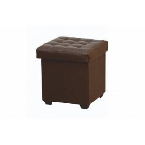 Пуфик коричневый