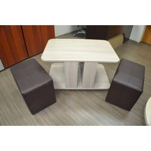 Стол с пуфиками